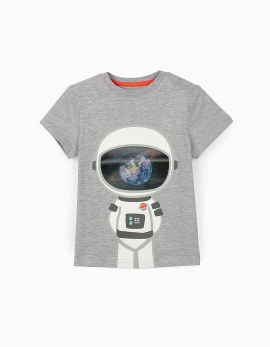 Camiseta para Bebé Niño 'Astronaut', Gris