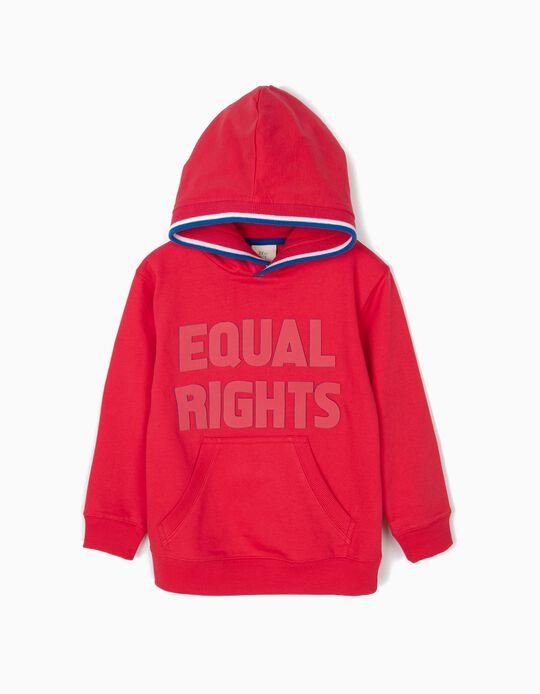 Sudadera con Capucha para Niño 'Equal Rights', Roja