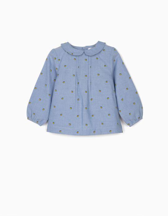 Blusa para Bebé Menina 'Bees', Azul
