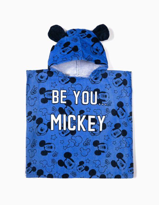 Poncho de Playa para Bebé Niño 'Mickey', Azul
