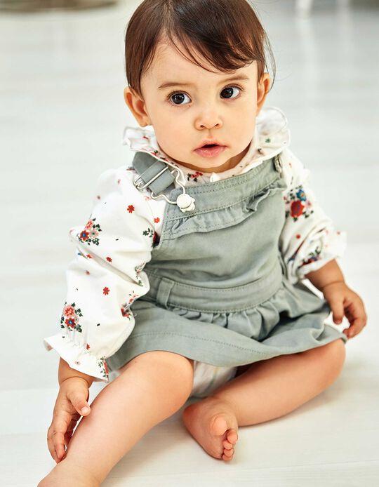 Falda con Peto para Bebé Niña, Verde