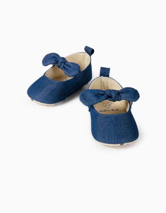 Bailarinas Vaqueras para Recién Nacida, Azules