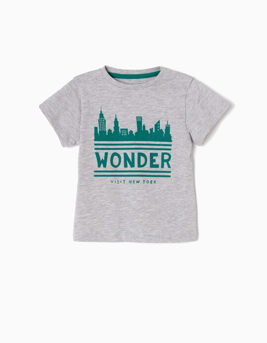 T-shirt New York Cinzenta