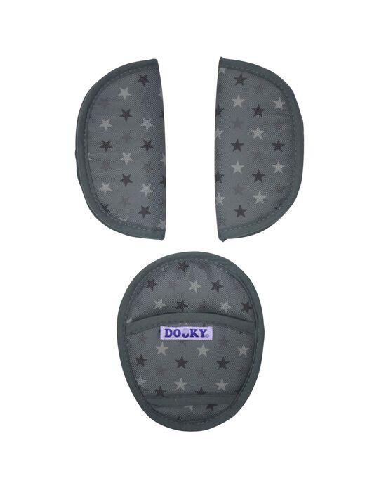Protetores De Cintos Universais Dooky Grey Stars