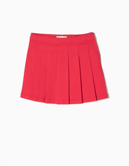 Falda con Pliegues Roja