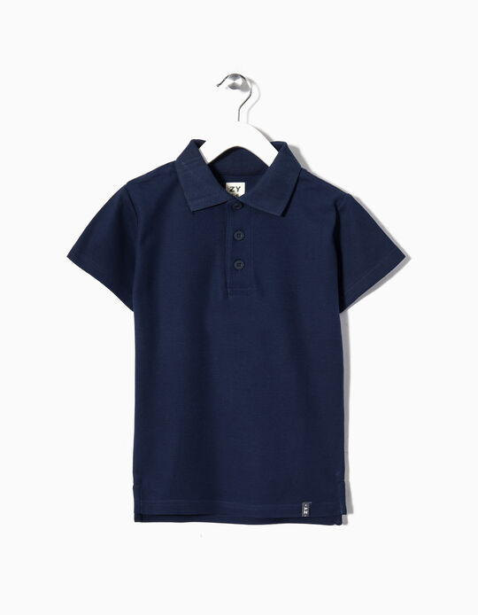 Short-sleeve Polo Shirt for Boys, Dark Blue