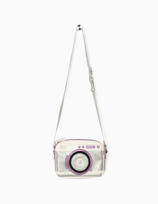 Crossbody Bag for Girls 'Photo', White/Purple/Silver