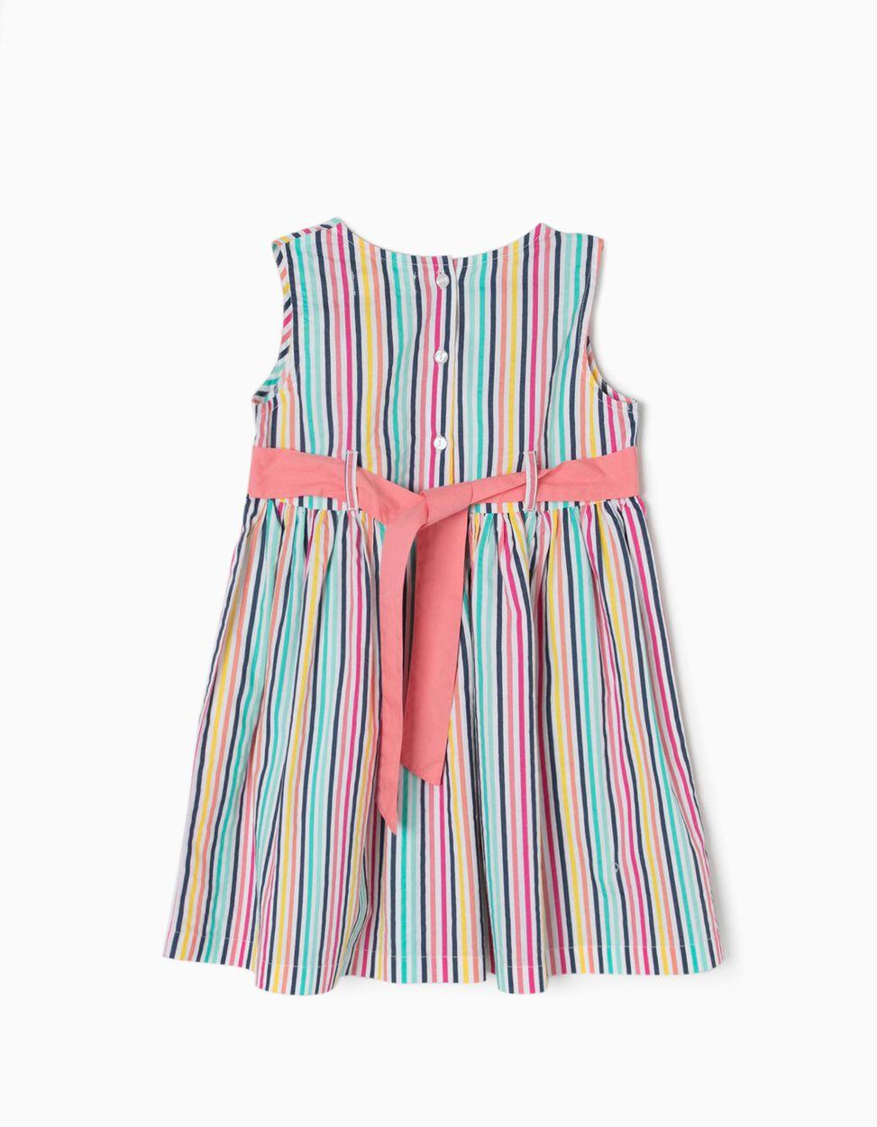Vestido Riscas Colorido