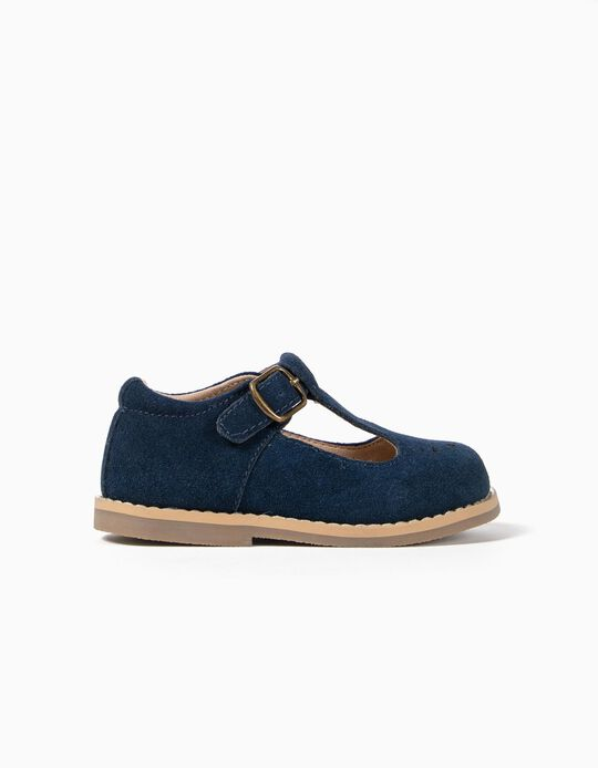 Suede Shoes for Baby Girls, Dark Blue