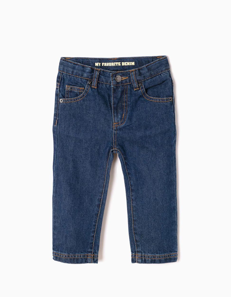 Pantalon Vaquero Para Bebe Nino Regular Fit Azul Oscuro Zy Baby Zippy Online