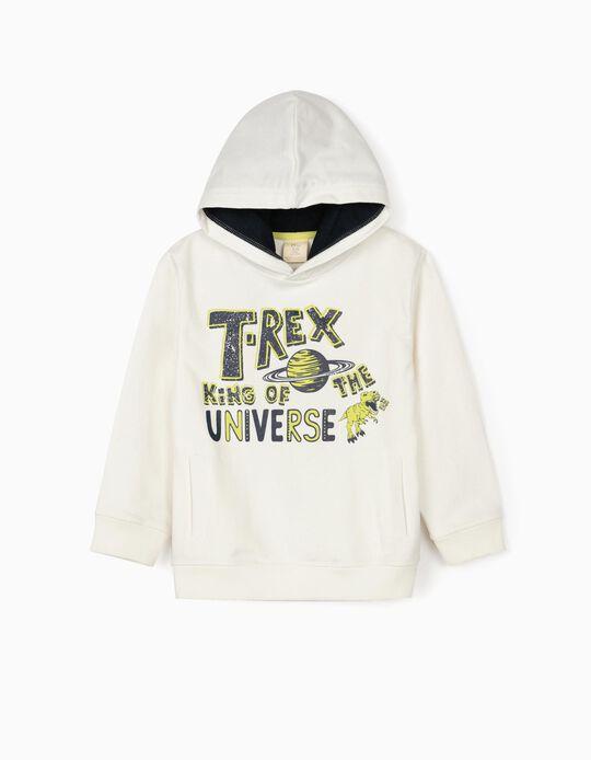 Sweatshirt com Capuz para Menino 'T-Rex', Branco