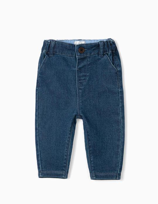 Pantalón para Recién Nacido 'Comfort Denim', Azul