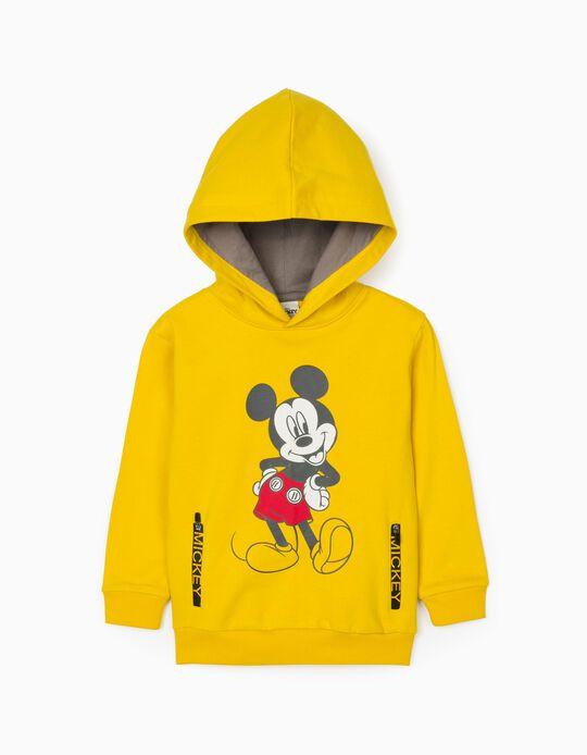 Sweat-Shirt Garçon 'Mickey', Jaune