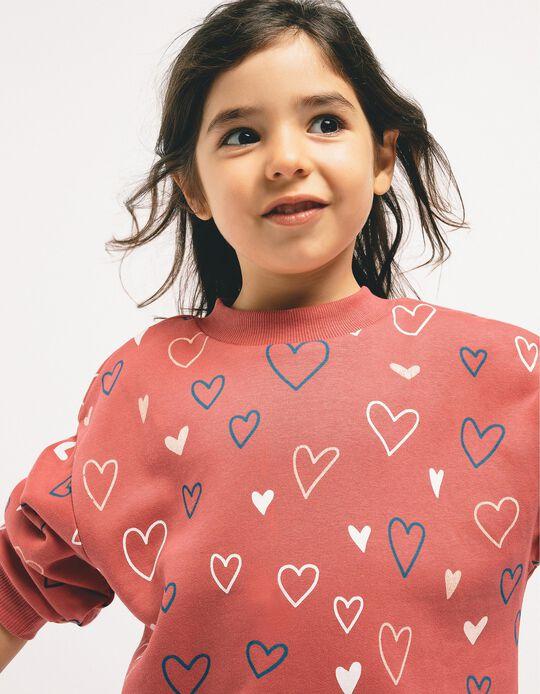 Sudadera para Niña 'Heart', Rosa