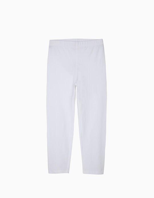 Leggings Básicas para Menina, Branco