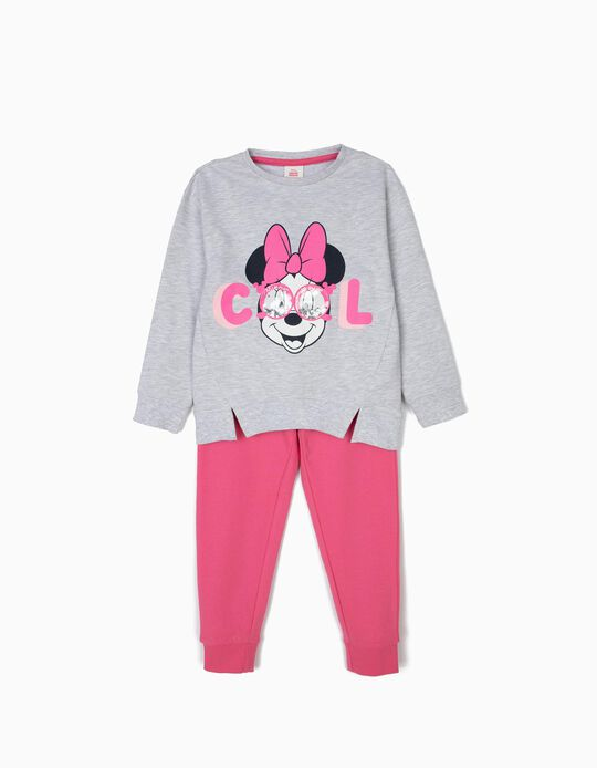 Fato de Treino para Menina 'Minnie Cool', Rosa e Cinza