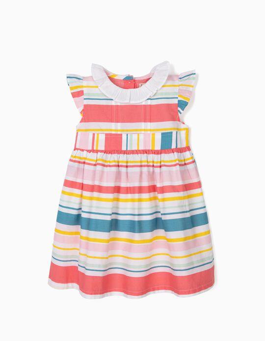 Vestido para Bebé Niña a Rayas, Multicolor