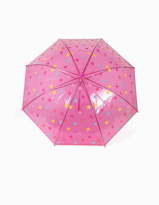 Umbrella for Girls, 'Stars', Pink