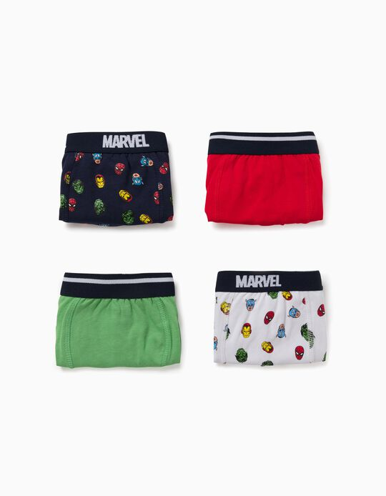 4 Boxer Shorts for Boys, 'Avengers', Multicoloured