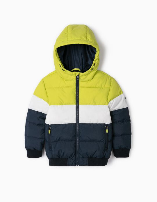 Quilted Jacket for Boys 'Colour-Block', Multicoloured