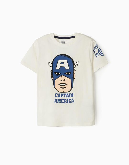 Camiseta para Niño 'Capitán América', Blanca