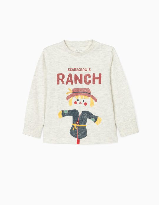 Long Sleeve T-Shirt for Baby Boys 'Scarecrow', Beige