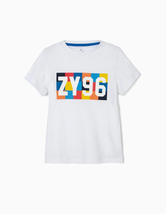 T-shirt para Menino 'ZY 96', Branco