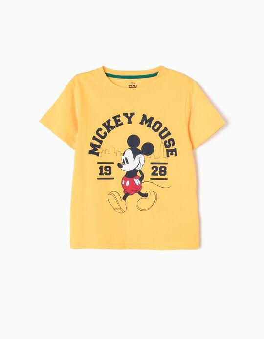 Camiseta Mickey 1928 Amarilla