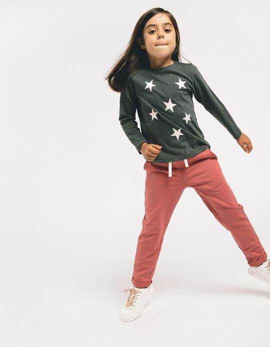 Zapatillas para Niña 'ZY Girl', Blancas y Bronce