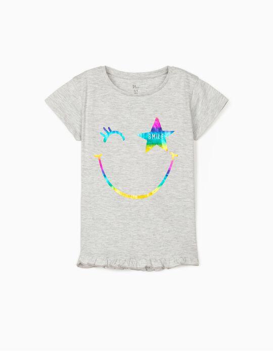 Camiseta para Niña 'Smile', Gris
