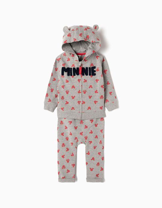 Fato de Treino para Bebé Menina 'Minnie', Cinza