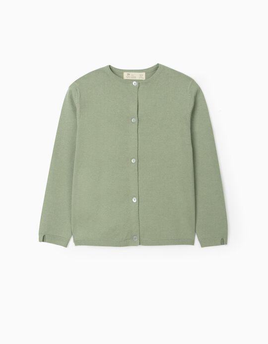 Cardigan for Girls, Green