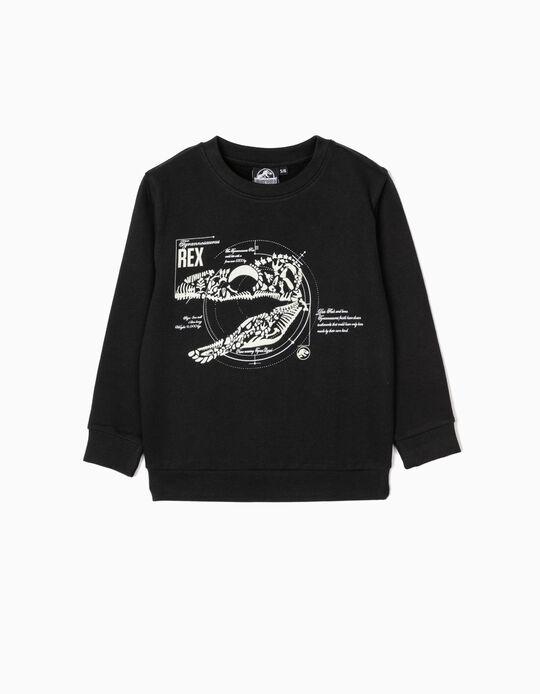 Sweatshirt para Menino 'Jurassic World', Preto