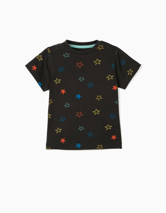 T-shirt for Baby Boys 'Stars', Dark Grey