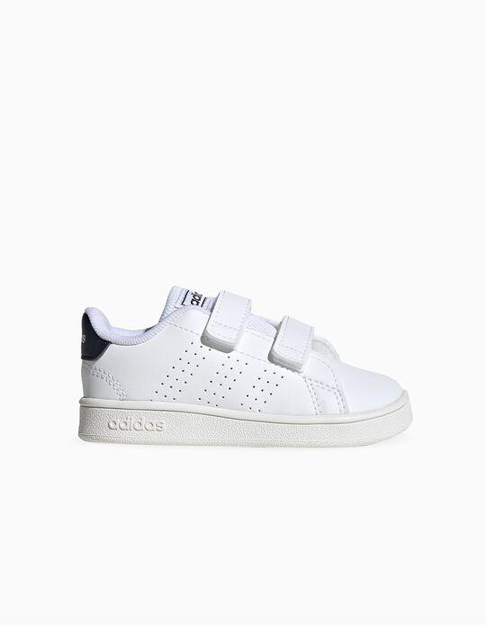 Sapatilhas para Bebé 'Adidas Advantage', Branco/Azul