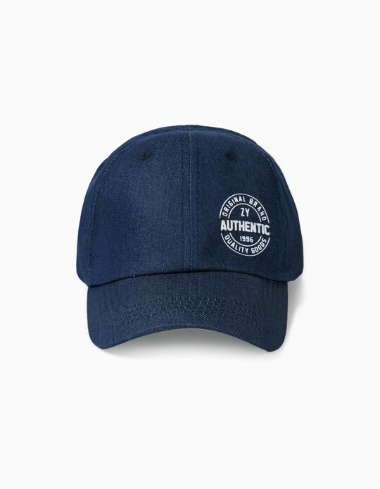 Cap for Boys, 'ZY Authentic', Blue