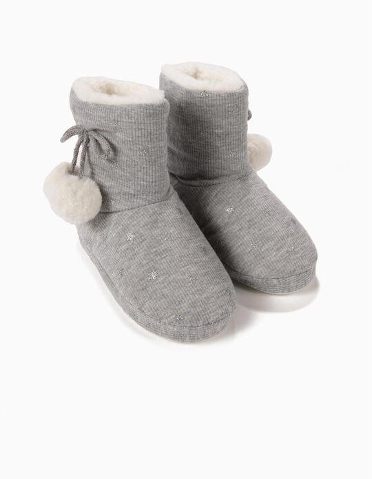 Zapatillas de Casa Estrellas Grises