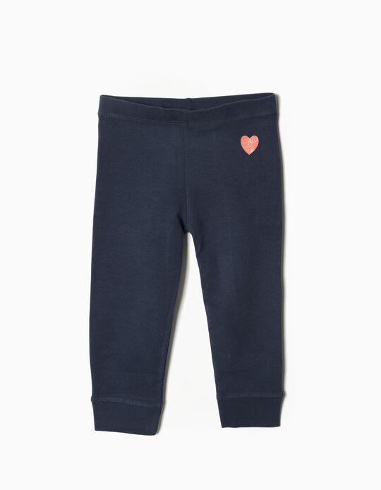 Pantalón de Punto Heart Azul