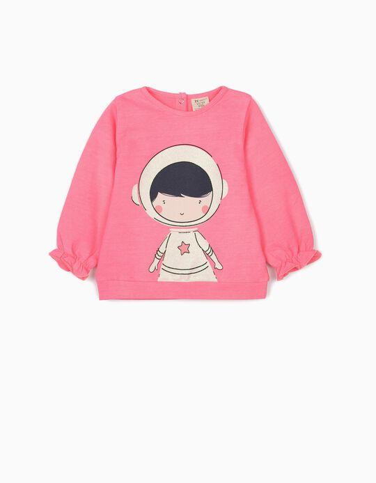Sweatshirt for Baby Girls 'Astronaut', Pink