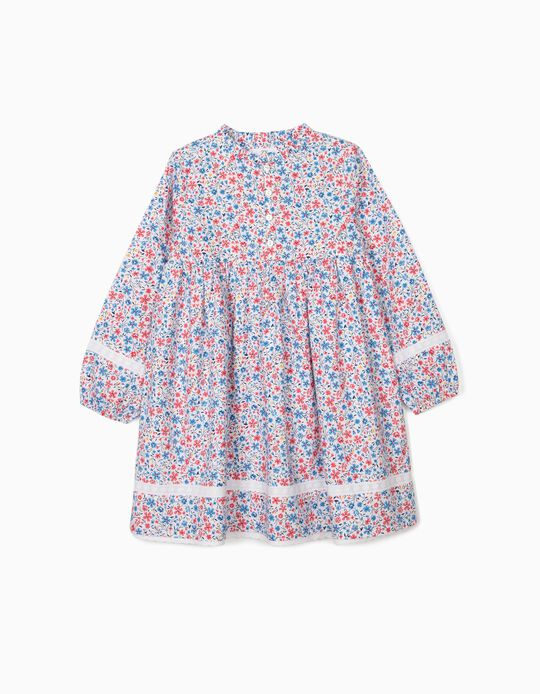 Floral Dress for Girls, Multicoloured