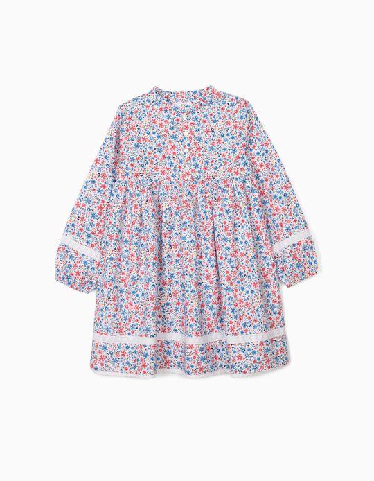 Robe fleurie fille, multicolore