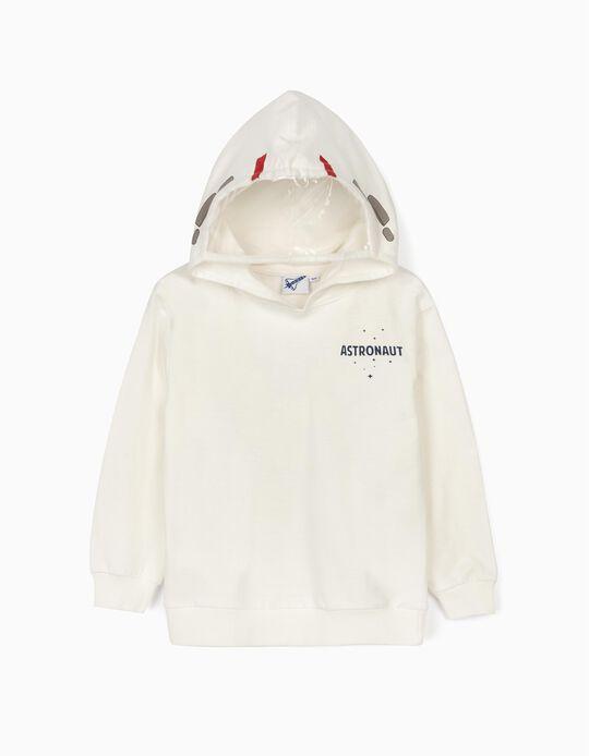 Sweatshirt com Capuz para Menino 'NASA', Branco