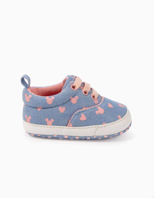 Zapatillas Pre-Walker Mickey Azul y Rosa