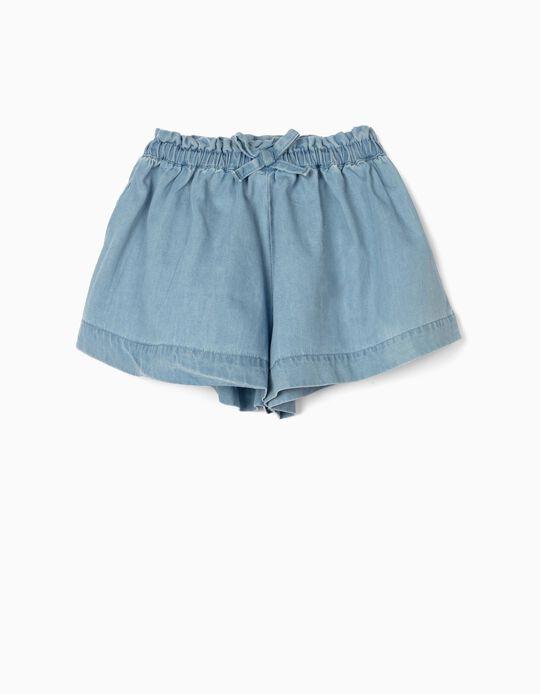 Short en jean bébé fille 'Confort Denim', bleu clair