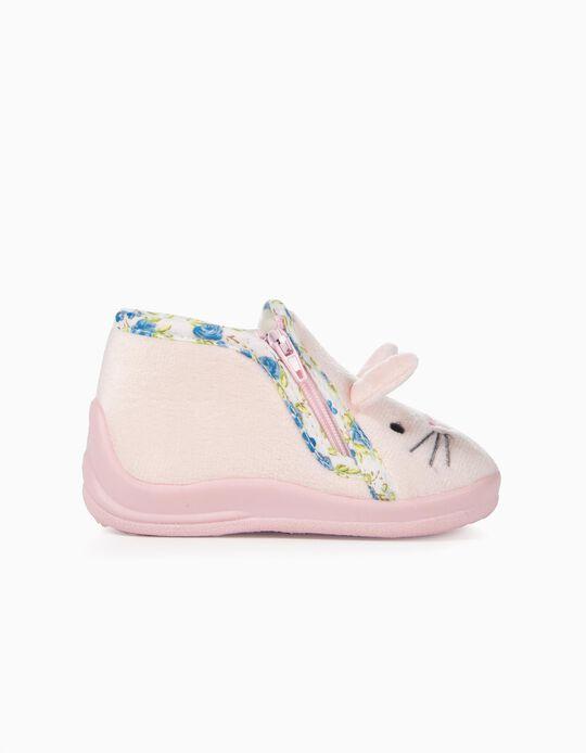 Zapatillas de Casa para Bebé Niña 'Cute Bunny', Rosa