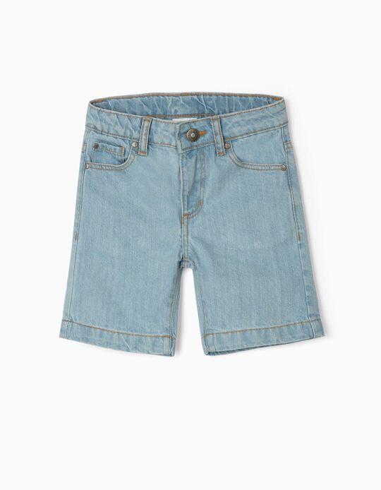 Short en jean garçon, bleu clair