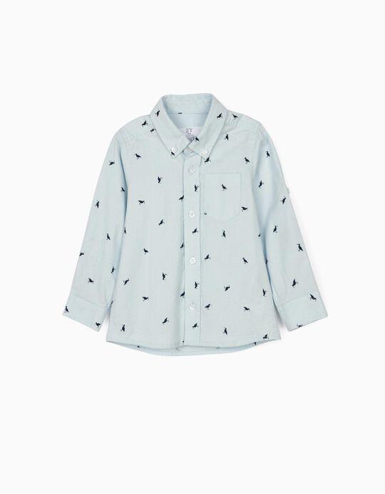 Shirt for Baby Boys, 'Birds', Blue