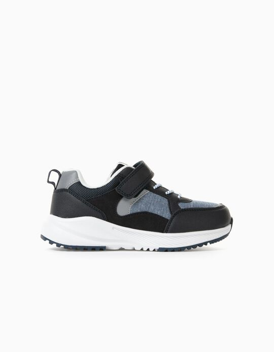 Trainers for Boys in Different Materials 'Scotland', Blue