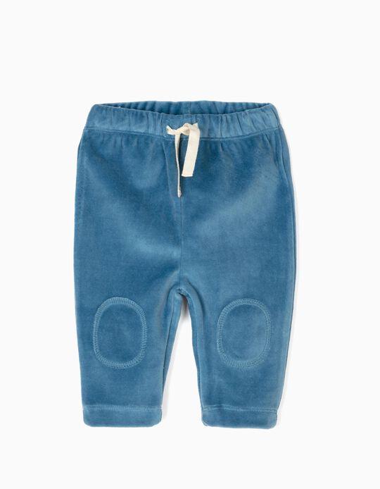 Pantalón Aterciopelado Azul
