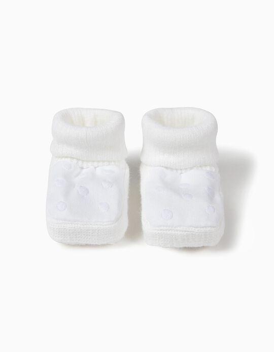 Botas de Punto Blancas